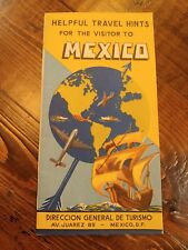 1951 Mexico Travel Brochure Tour Guide Tourist Info Mexican Vacation Hints