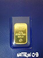2,5 grams GOLD BAR / 24 KARAT - 999,9 / ALBINO MOUTINHO
