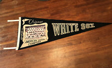Vintage 1959 Chicago WHITE SOX Baseball Felt Flock Pennant MLB Color Picture
