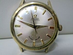 Vintage Omega Automatic 10K Gold Filled Running Watch 17 Jewels