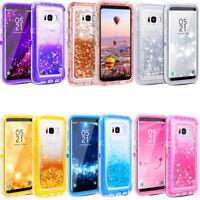 For Samsung Galaxy S8/S8+ Plus Glitter Liquid Defender Case (Clip Fits Otterbox)