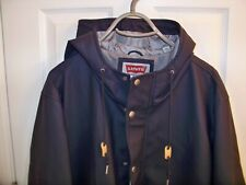 LEVI'S MEN'S RUBBERIZED RAIN PARKA JACKET WITH ATTACHED HOOD  SIZE (50)