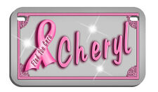 Breast Cancer Awareness Motorcycle License Plate Personalize Text In Any Color