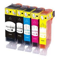 5x Ink Cartridge PGI-525BK CLI-526 B/C/M/Y for CANON Pixma MX895 MX715 PRINTER
