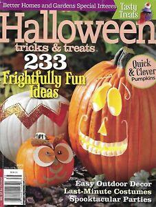 Halloween Tricks and Treats Magazine Pumpkins Easy Outdoor Decor Costumes 2013 `