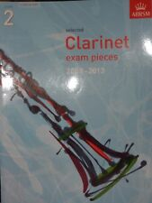 NEW & UNUSED ABRSM Selected Clarinet Exam Pieces 2008-2013 grade 2 score & part