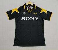 1995-97 Juventus Black Away Retro Soccer Jersey