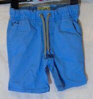 Boys Next Dusky Light Blue Drawstring Waist Cotton Long Board Shorts Age 3 Years