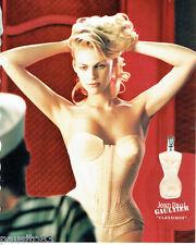PUBLICITE ADVERTISING 125  2002  JEAN PAUL GAUTHIER  parfum femme CLASSIQUE