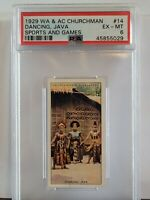 1929 Churchman Sports & Games Dancing, Java PSA 6