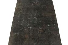 Orient Tapis Vintage noir moderne chic Used Look 190x110 noué à la main 3462