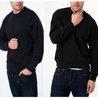 Mens Sweatshirt Plain Sweater Heavy Quality Crew Neck Pullover Jumper S-2XL