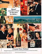 PUBLICITE ADVERTISING 055  1967  VEUVE OUDINOT  crémant  COUPE D'OR BON GOUT
