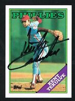 Kent Tekulve #543 signed autograph auto 1988 Topps Baseball Trading Card
