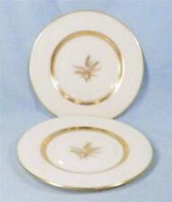 2 Lenox Westfield Bread & Butter Plates Off White Porcelain Gold Wheat R-440