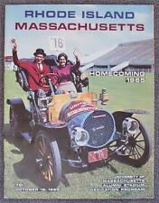10/1/1965 Rhode Island vs Massachusetts NCAA Football Program - Homecoming Game