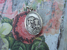 Vintage Catholic Medal OUR LADY OF THE WAY Travel Protection Sacred Heart Jesus