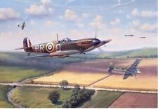 """""""Fox Hunt"""" Jim Laurier Limited Edition Print - WWII Action over Great Britain"""