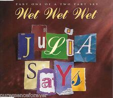 WET WET WET - Julia Says (UK 4 Track CD Single Part 1)