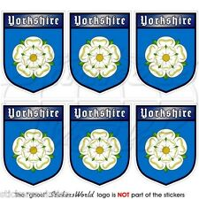 YORKSHIRE White Rose of York Shield UK Mobile Cell Phone Mini Stickers-Decals x6