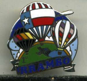 R RAMBO Hot Air Balloon Pin
