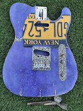 Pistols Crown Barncaster Tele BODY ONLY Guitar Handmade In USA Dirty paisley