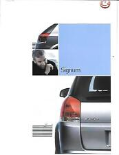 VAUXHALL SIGNUM PREVIEW SALES BROCHURE  OCTOBER 2002 FOR 2003 MODEL YEAR