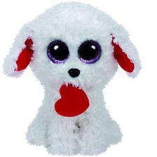 TY Beanie Boos Honey Bun White Dog with Heart Plush