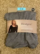 M&S MARKS & SPENCER GREY THERMAL HEATGEN LONG SLEEVE TOP UK SIZE 14