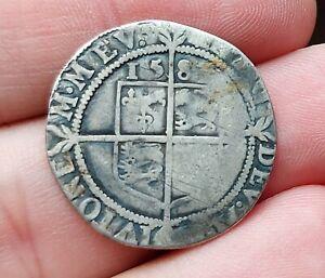 Rare Elizabeth I Silver Groat