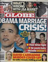 Globe Magazine Barack And Michelle Obama Lisa Marie Presley David Carradine 2010