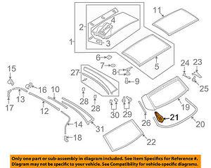 VW VOLKSWAGEN OEM 07-16 Eos Retractable Top-Repair Kit 1Q0898162