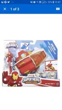 Playskool Marvel Super Hero Adventures STARSHIP IRON MAN Figure Imaginext New