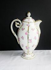 Antique Minton for Tiffany & Co Porcelain Roses China Coffee Pot Teapot England