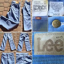 Vintage Lee Jeans Lee Riders Union Made 34 x 30 Light Blue Made In USA