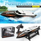 Udirc RC Boat 2.4Ghz Remote Control High Speed 25km/h RC Electric Boat Black