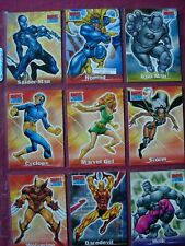 Marvel Legends: X9 Level-A Costume Change 1:8 Chase cards Topps 2001 VFN
