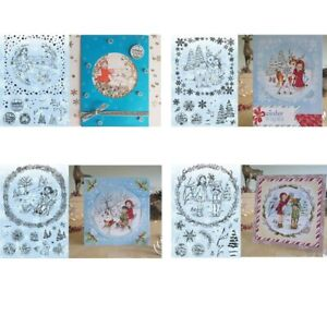 Winter Series People Animal Plant Greetings Transparent Clear Stamps