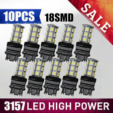 10PCS 3157 18SMD LED Tail Brake Stop Backup Reverse Turn Light Bulb White 6000K