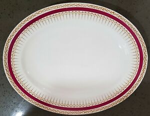 Alfred Meakin burgundy and gold oval serving platter