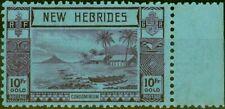 More details for new hebrides 1938 10f violet-blue sg63 fine mnh