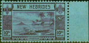 New Hebrides 1938 10F Violet-Blue SG63 Fine MNH