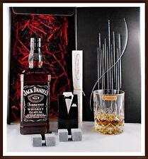 Jack Daniels old No.7 Whiskey Geschenk Kühlsteine im Smoking + Whiskey Glas
