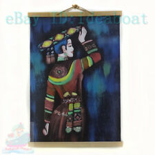 60x40CM Hand Painted on Leatherette- Huayao Dai(Colorful-waistband) Minorit Girl