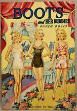 1943 BOOTS & HER BUDDIES Paper Doll Book - SAALFIELD #2460 - UNCUT ORIGINAL