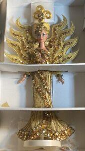 "Mattel 1995 Barbie ""Goddess Of The Sun"" Bob Mackie w Booklet in Original Box*"
