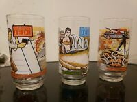 Vintage Star Wars Return Of The Jedi Burger King Glasses Set Of 3 New 1983