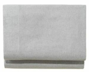 LL Bean Ultrasoft Comfort Flannel Sheet Fitted Twin Extra Long, Heather Gray