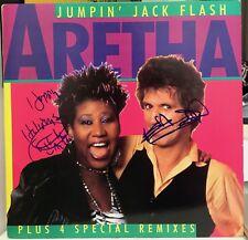"Aretha Franklin & Keith Richards signed Jumpin Jack Flash 12"" LP"