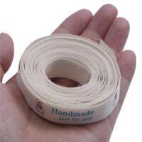 5 yards coupés coudre des étiquettes/lin coton ruban 25mm accessoires câlins